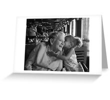 Three generation span.. two smiles Greeting Card