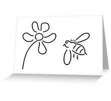 bee honey flower blossom Greeting Card