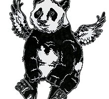 Flying panda by puulo