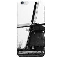 WindMill in Holland - B&W iPhone Case/Skin