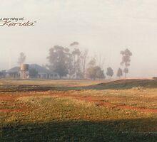 Misty Morning On The Farm © by Vicki Ferrari