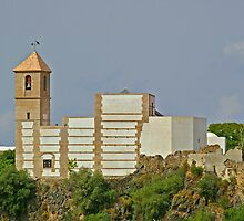 Casares, Andalucia - New Bell Tower and Church by Rebecca Silverman