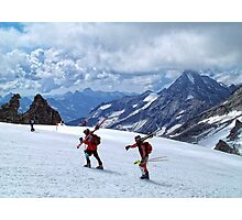 Let's Go Skiing Photographic Print