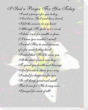 Luscious image with regard to i said a prayer for you today printable