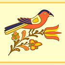 Fraktur Bird by Sam Dantone