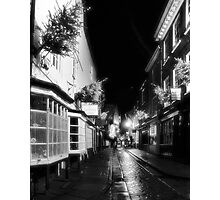 Shambles by night in infrared Photographic Print
