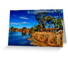 """Creekside on a Summer Afternoon"" Greeting Card"