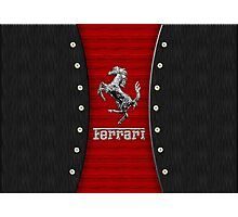 Ferrari ~ Wood Red & Silver Photographic Print