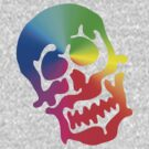 "Color ""Blob"" Skull by tastypaper"