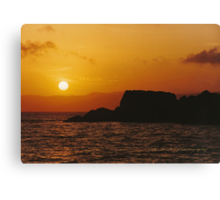Sun Setting Over Dent Island © Vicki Ferrari Canvas Print