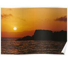 Sun Setting Over Dent Island © Vicki Ferrari Poster