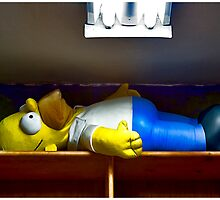 Homer At The Tanning Salon by Mark Ross