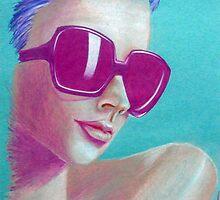 Bright Pink Idea by JoanOfArt