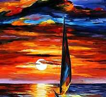 Towards The Sun — Buy Now Link - www.etsy.com/listing/185117969 by Leonid  Afremov