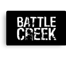 Battle Creek - White Canvas Print