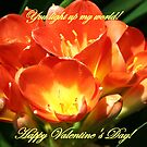 You light up my world, Happy Valentine&#x27;s Day by Linda Jackson