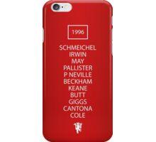 1996 Manchester United FA Cup Final Team iPhone Case/Skin