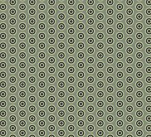 Illustrated Stylized Radial Pattern by Charlotte Lake