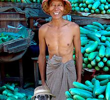 CUCUMBER MERCHANTS - MANDALAY by Michael Sheridan
