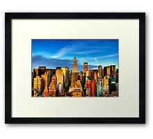 Manhattan Sunrise Framed Print