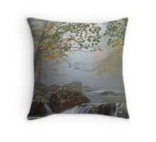 A FOGGY MOUNTAIN STREAM Throw Pillow