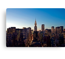 Manhattan Sunset Canvas Print