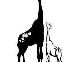 Giraffe and Aspiring Baby by Nivekdarb