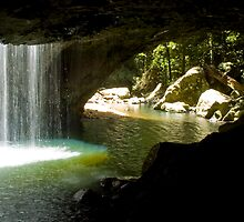 Natural Arch Waterfall, Springbrook on the Gold Coast Hinterland by Steve Grunberger