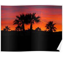 Sunset in the high desert, Laughlin Nevada Poster