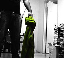 faceless green jacket wearing man by darlingdogma