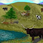 Longhorns by Carole Boyd