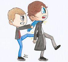 John and Sherlock by YuriSu