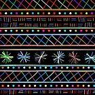Happy sticks pattern by Richard Laschon