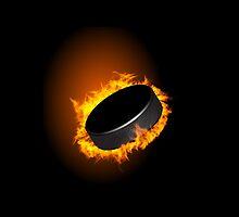 Burning Hockey Puck  by CroDesign