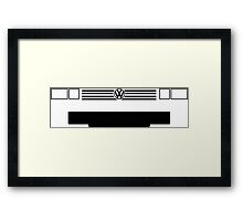 Volkswagon Vanagon Type 2 (T3) (Caravelle, Microbus) grill and headlights simplistic design Framed Print