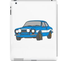 1970 Ford Escort RS2000 Fast and Furious Paul Walker's car Black Outline Colour fill. iPad Case/Skin