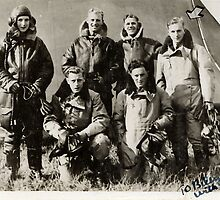 "1940 RAF aircrew, ""To Billy with love""(photo) by Woodie"