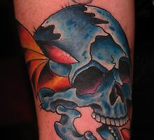 Skull Tattoo by Dan Casey Campbell