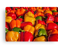 Sweet Bell Peppers Canvas Print