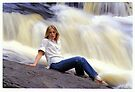 M. with Waterfall by Stephen Beattie