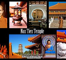 Nan Tien Temple postcard by Vanessa Pike-Russell