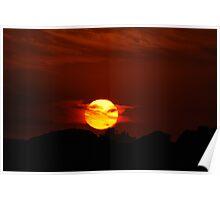 Millennium Sunrise Silhouette - Nobbys Newcastle  Poster