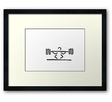 weightlifters exercise with dumb-bells weight lifting Framed Print