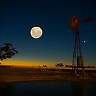 Multi-Exposure-Moon/Sunset by Murray Wills