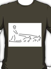 dog sledges run sledge dogs T-Shirt