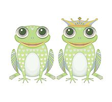 Frog and Crowned Frog by Jean Gregory  Evans