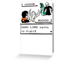 WIZARD BATTLE Greeting Card