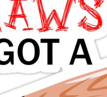 Claws & Bat (solid background) Sticker