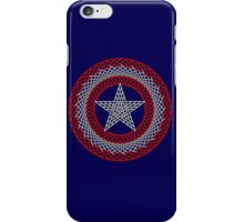 Celtic Captain America Black outline with red/white fill iPhone Case/Skin
