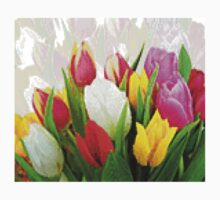 Colorful Tulips Pixelate Kids Clothes